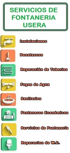 servicios de fontaneria en Usera